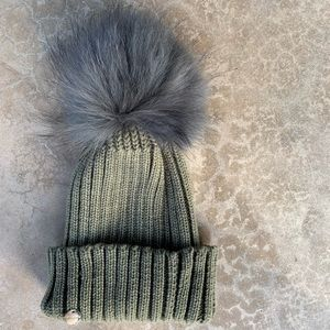 d99060d27b19 Yves Salomon Accessories - Yves Salomon Rabbit Fur PomPom Beanie